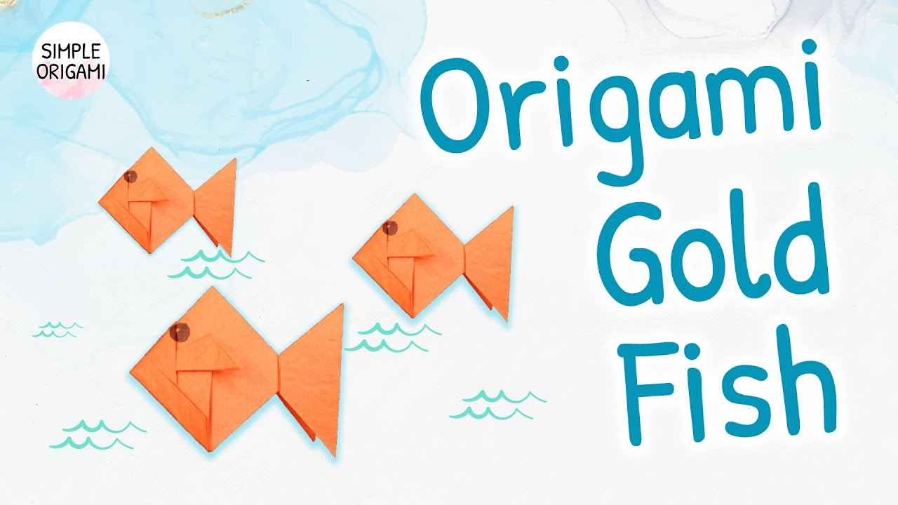 origami fish easy for kids - YouTube | 720x1280