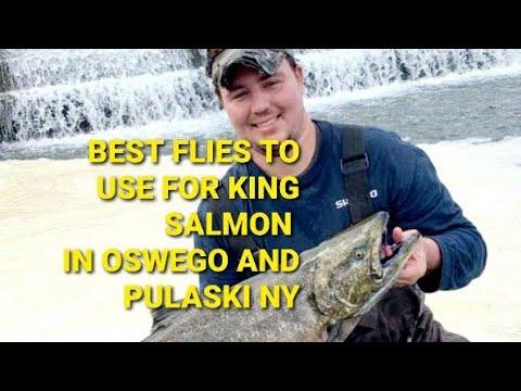 Best Flies For King Salmon In Pulaski And Oswego NY.