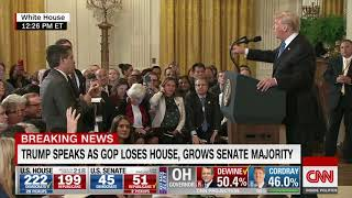 [HD] CNN : Trump clashes with Acosta in testy exchange 11/7/2018