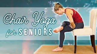 Yoga for Seniors ♥ Chair Stretches for Pain Relief, Relaxation, Joint Health, Flexibility, Stress