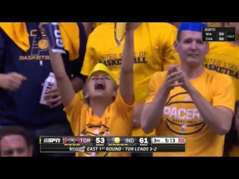 Toronto Raptors vs Indiana Pacers. Game #6. Playoffs NBA 2016