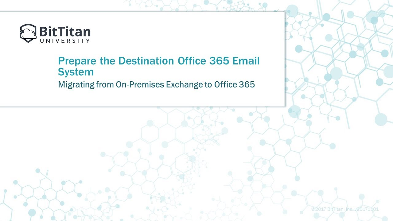 Module 4: Prepare the Destination Office 365 Email System