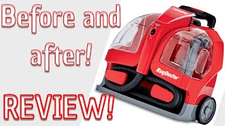 Rug Doctor Portable Spot Cleaner Review! Before and after!