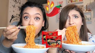 [SPICY RAMEN MUKBANG] We TRIED The 2x NUCLEAR FIRE NOODLE