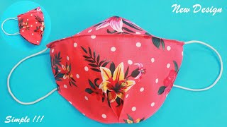 Simple New Design Fabric Face Mask Sewing Tutorial with Filter Make DIY Face Mask Cloth at Home