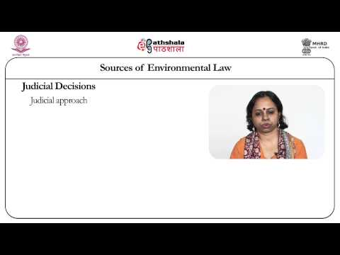 Sources of Domestic Environmental Law