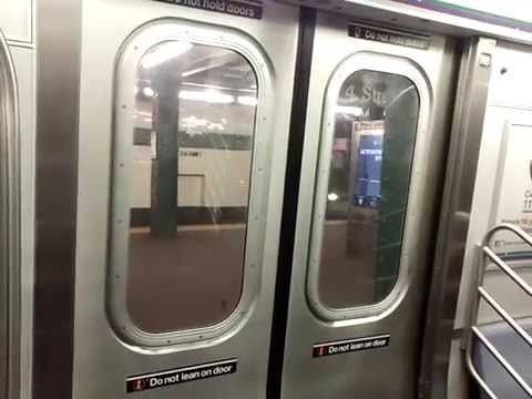 IND Sixth Avenue Line: Queens-bound R160A F Express Train Ride