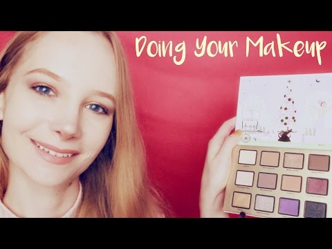ASMR Makeup Roleplay and Straightening Your Hair