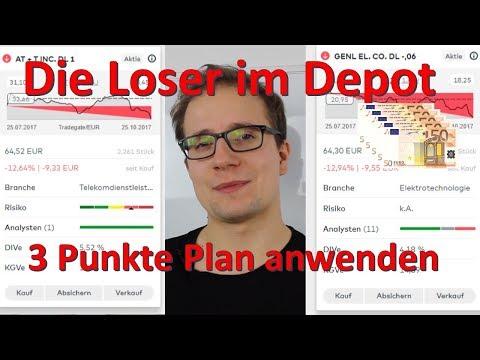 Verliereraktien im Depot -  3 Punkte Plan anwenden - Aktien im Dividendenstrategiedepot -10%
