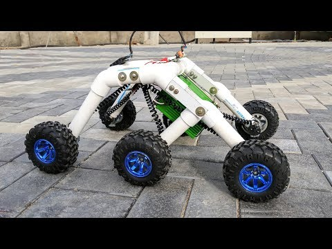 How to Make a Rocker bogie Robot at Home – Stair climbing car