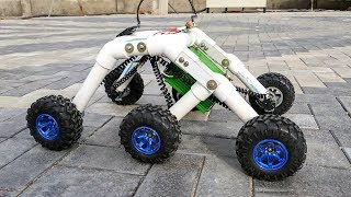 How to Make a Mars Rover / Rocker bogie Robot - Stair climbing