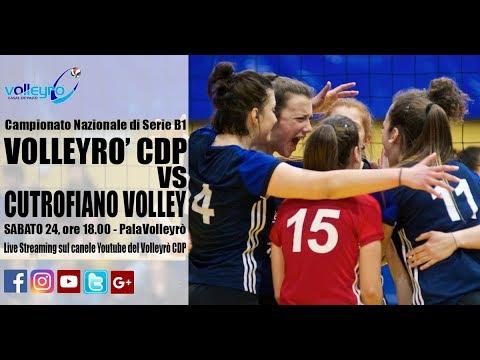 ore 18 - Campionato serie B1: Volleyrò CDP / Cutrofiano