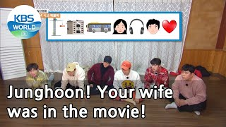 Junghoon! Your wife was in the movie! (2 Days & 1 Night Season 4) | KBS WORLD TV 210214