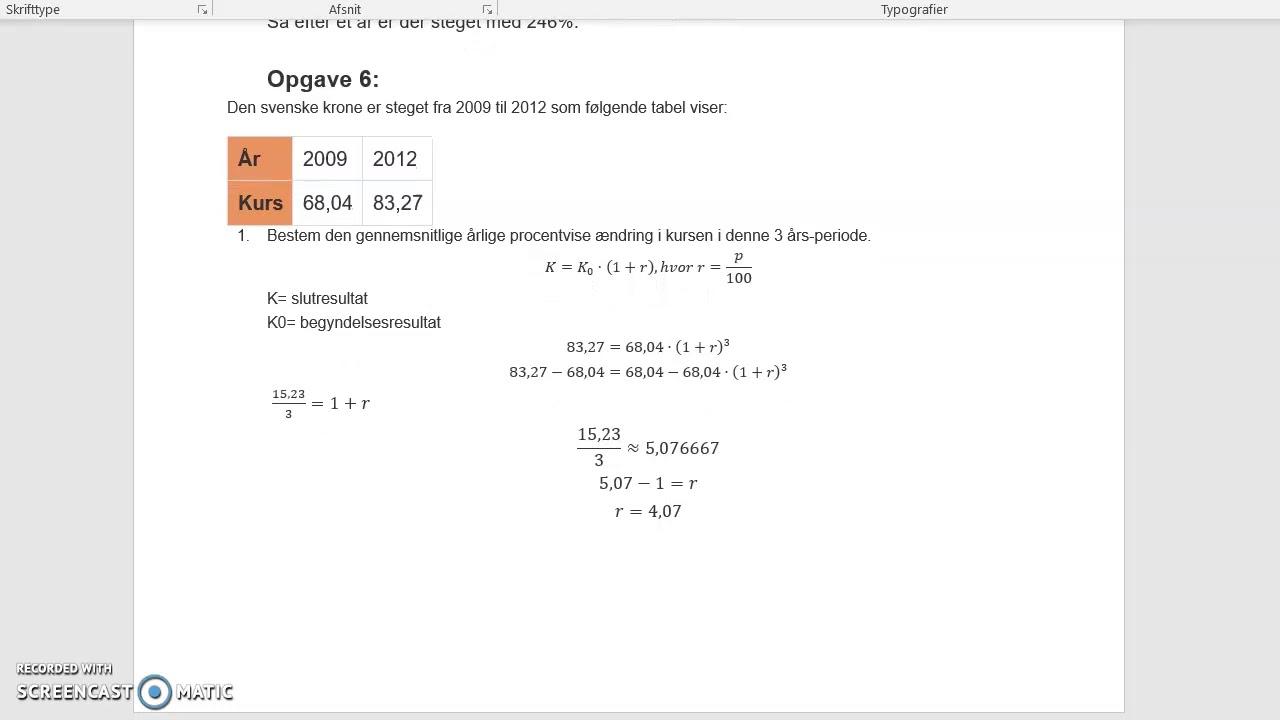 Matematik opgaver (Franno og Hannah)