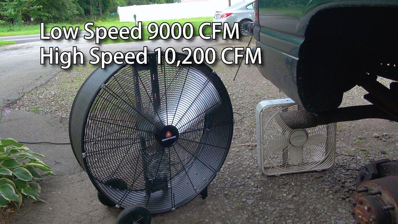 County Line Tractor Supply 36 Inch Barrel Fan
