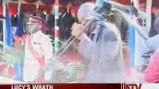Lucy Kibaki slaps mc