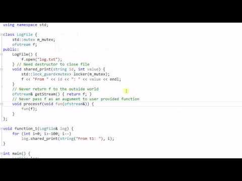 C++ Threading #3:  Data Race and Mutex