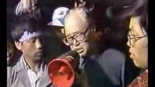 六四前赵紫阳在天安门广场对学生发表讲话完整影像【独家】