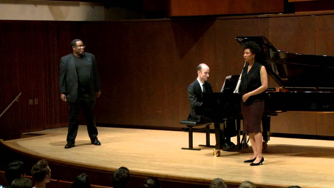 Eric Owens Master Class, May 1, 2014: Julia Bullock and Dimitri Dover