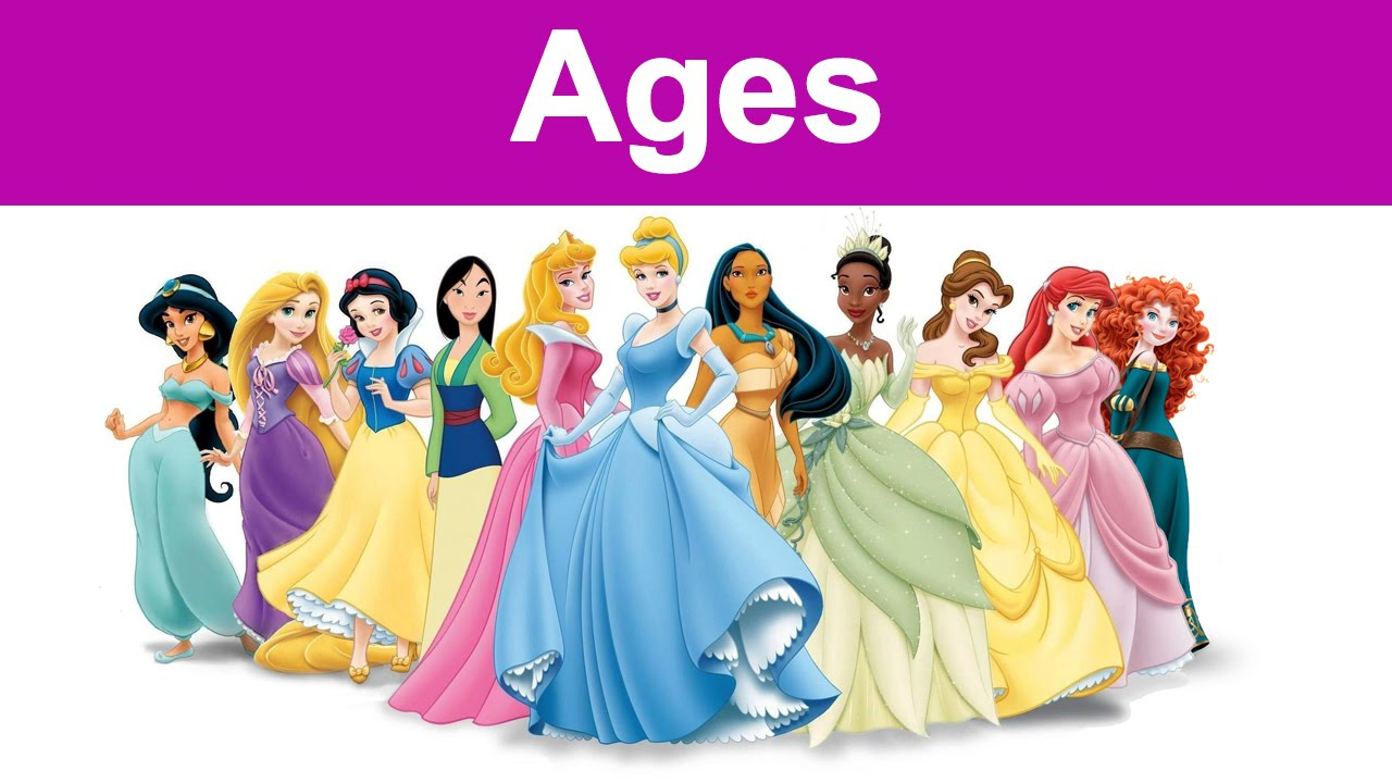 The Actual Ages Of Disney Princesses. Do you Know it ...