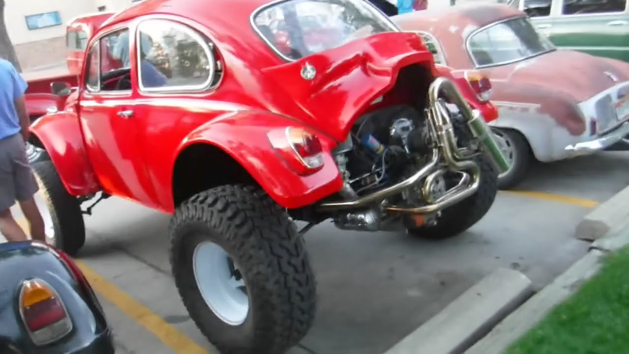 69 Baja Bug on Bus Frame - YouTube