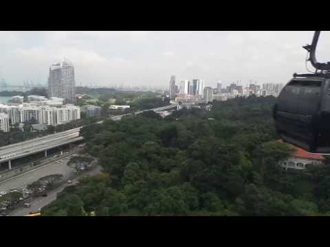 beautiful view from singapore cable car