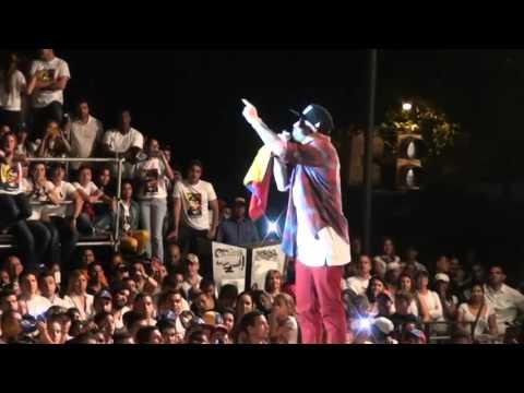 chino y nacho discurso + concierto un grito por la paz venezuela