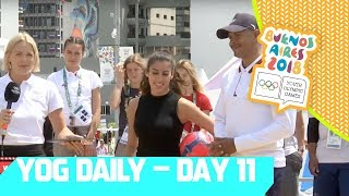 2x Gold Medallist Felix Sanchez Joins on Day 11 | YOG Daily Show | Day 11 | YOG Buenos Aires 2018