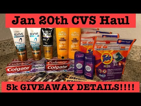 CVS Extreme Couponing Haul| Jan 20, 2019|$.69 Tide Pods + 5K Giveaway Details!!!! Mp3