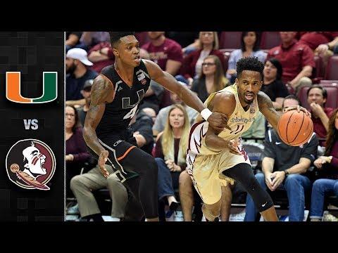 Miami vs. Florida State Basketball Highlights (2017-18)