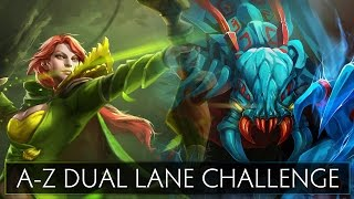 Dota 2 A-Z Dual Lane Challenge - Weaver and Windranger