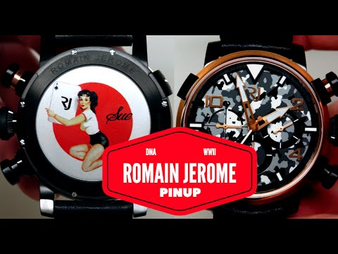 (4K) Romain Jerome Pinup DNA Red Gold WWII Nose Art Men's Watch Review Model: RJ.P.CH.003.01