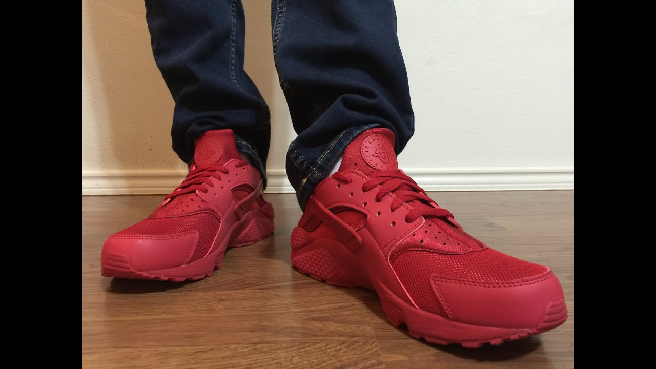 nike huarache for men red