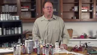 Spraying Acrylic Paints