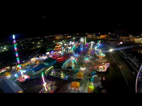 4K CRAZY Fair ride at night: Air Raid Florida State Fair Tampa FL