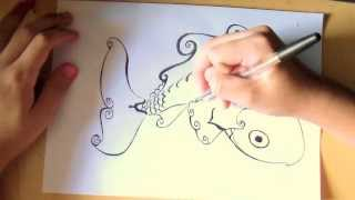 Desenho Peixe (Carpa) - Drawing Fish - Speed Art