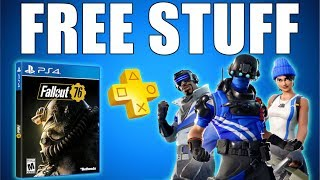 Fallout 76 𝗙𝗥𝗘𝗘 & New 𝗣𝗦 𝗣𝗟𝗨𝗦 Skins Pack Fortnite - Free Game & Loot (Playstation News)