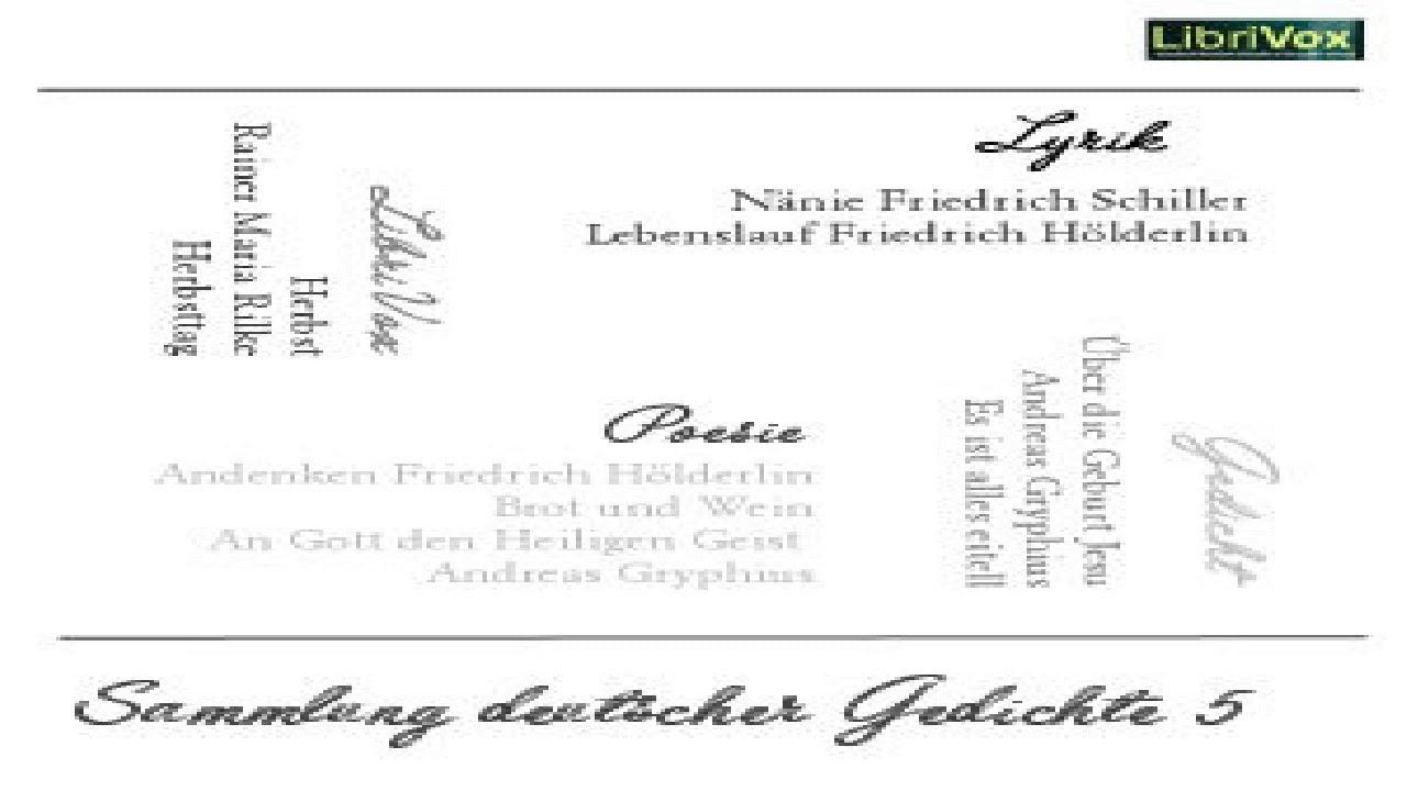 Sammlung Deutscher Gedichte 005 Various Anthologies
