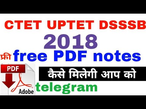 #CTET2018 free note, Free PDF notes for CTET 2018 and UP TET 2018/ how to  join telegram our channel