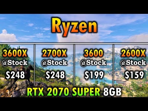 Ryzen 5 3600X vs Ryzen 7 2700X vs Ryzen 5 3600 vs Ryzen 5 2600X | RTX 2070 SUPER 8GB