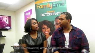 Angell Conwell and Omar Gooding of Family Time on Bounce TV