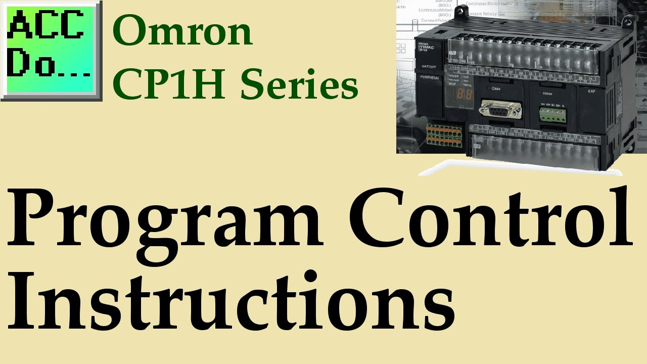 Omron CP1H Program Control Instructions