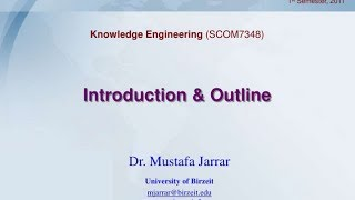 Introduction to Knowledge Engineering- Course outline