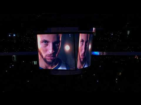 2017-2018 Golden State Warriors intro and Starting Lineup