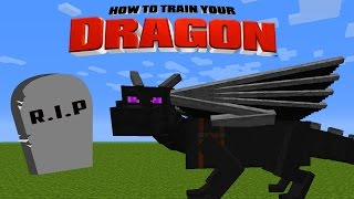 Minecraft - HOW TO TRAIN YOUR DRAGON - A Dragon Dies?!?! [30]