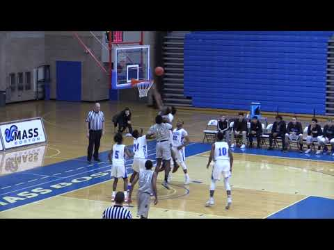 UMass Boston Men's Basketball Vs Pine Manor College (12/5/17) Highlights