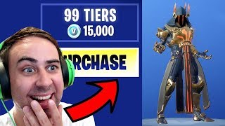 I Bought ALL 100 TIERS !! ... Fortnite SEASON 7 BATTLE PASS UNLOCKED!
