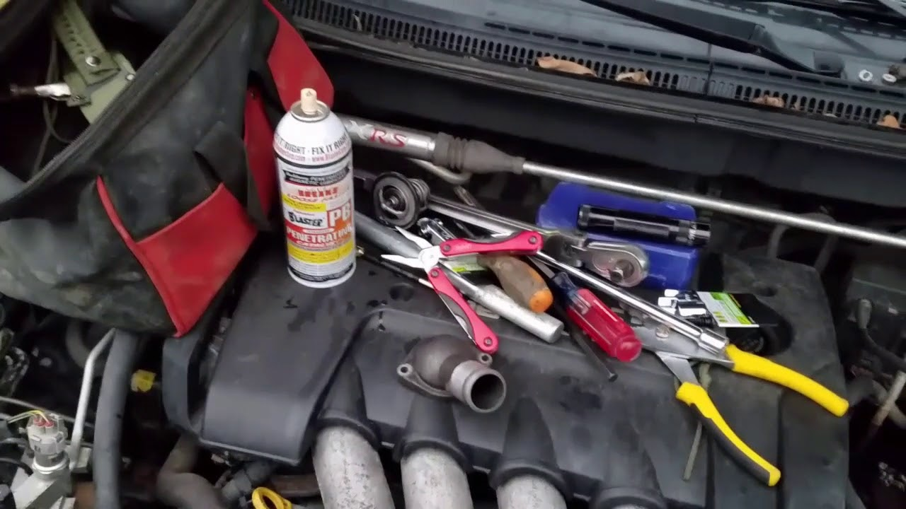 03 08 Toyota Corolla Matrix Thermostat Replacement Removal And Cylinder Wiring Install