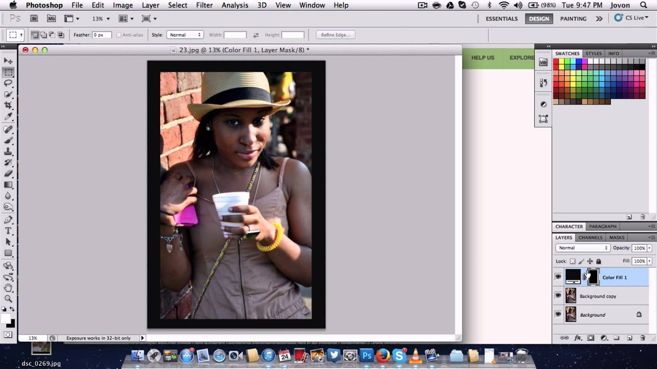 How to make a custom picture frame in Photoshop CS5/CS6 - YouTube