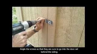 9-installing Shed Door Hardware - How To Build A Generator Enclosure